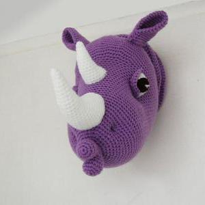 Rhinka the Rhino - Rhino Head Croch..